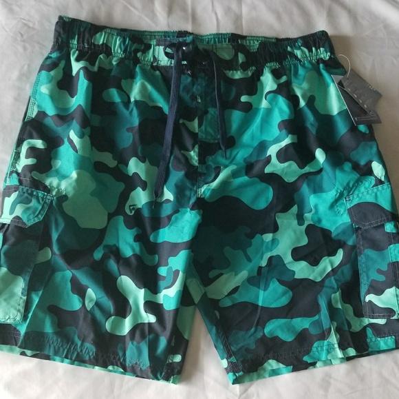 1c33588c19 Swim | Bluegreen Camouflage Board Shorts | Poshmark